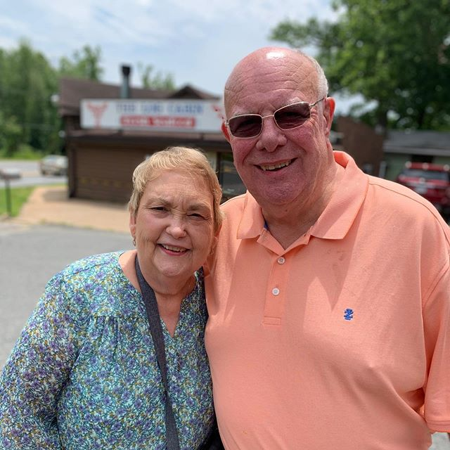 Happy 50TH Wedding Anniversary to these two love birds. Onward to 50 more! #happyanniversary