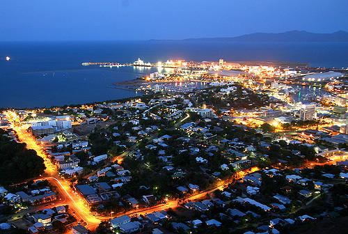 Townsville at night. (Photo not mine.)