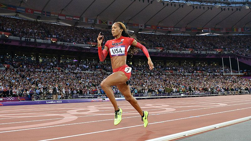 One of my favorite runners, U.S. Olympic track star Sanya Richards-Ross (who I am no where near as fast as)