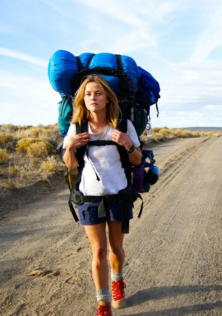 "Reese Witherspoon in the movie version of ""Wild"""
