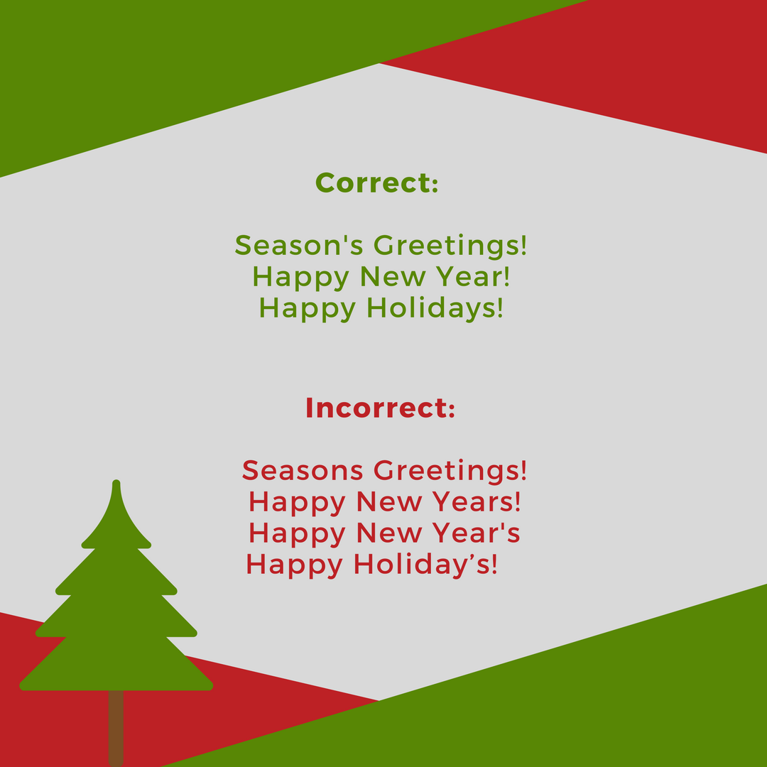 Correct Punctuation in Holiday Phrases