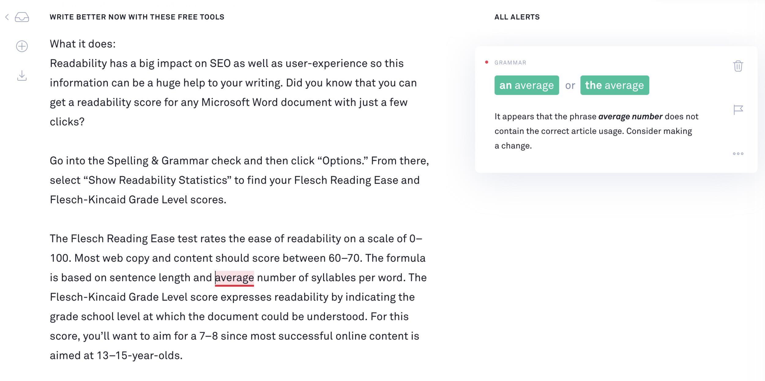 Grammarly's Free Web-Based Document Editor