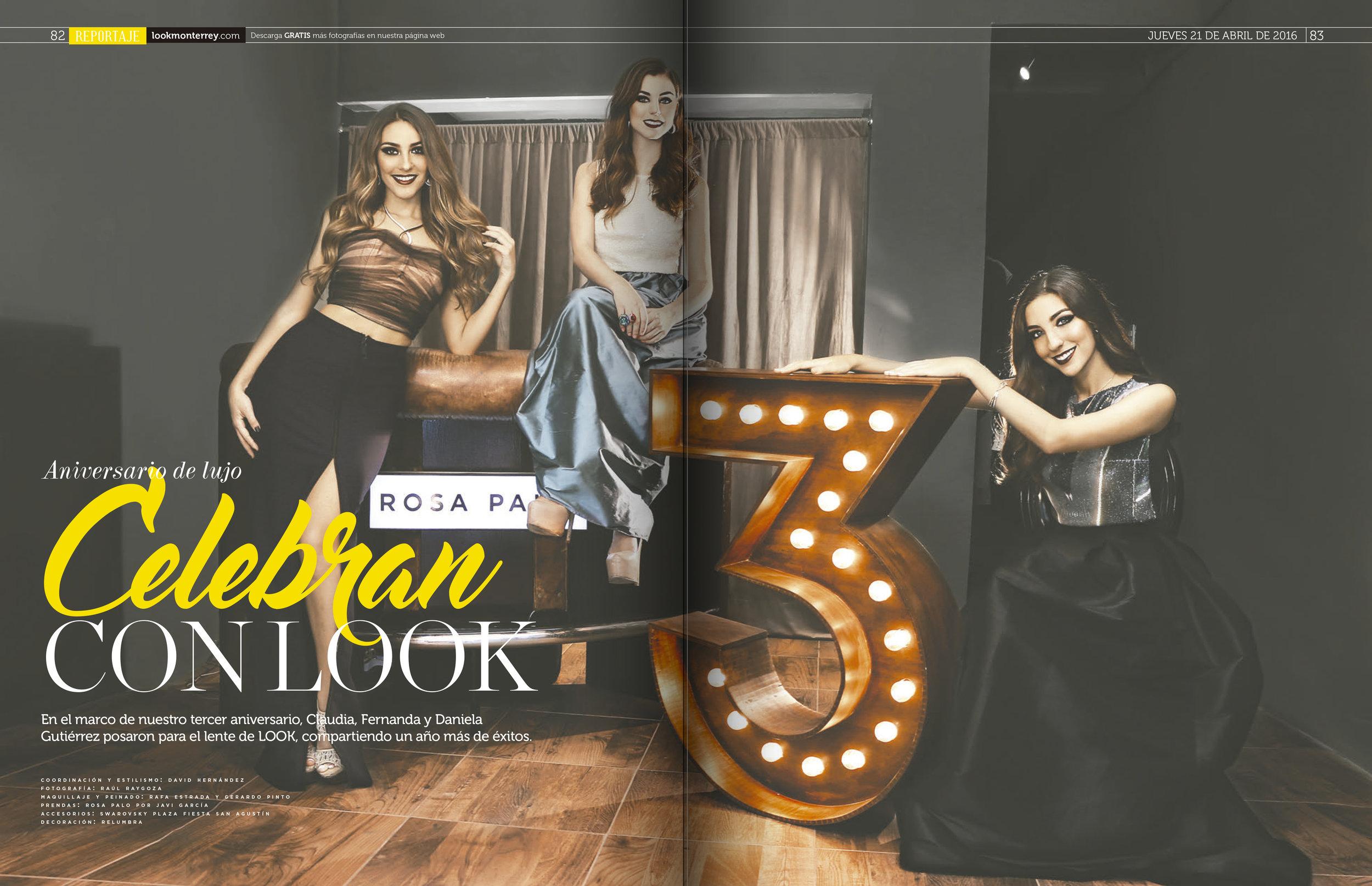 Revista Look 3r aniversario 2016.