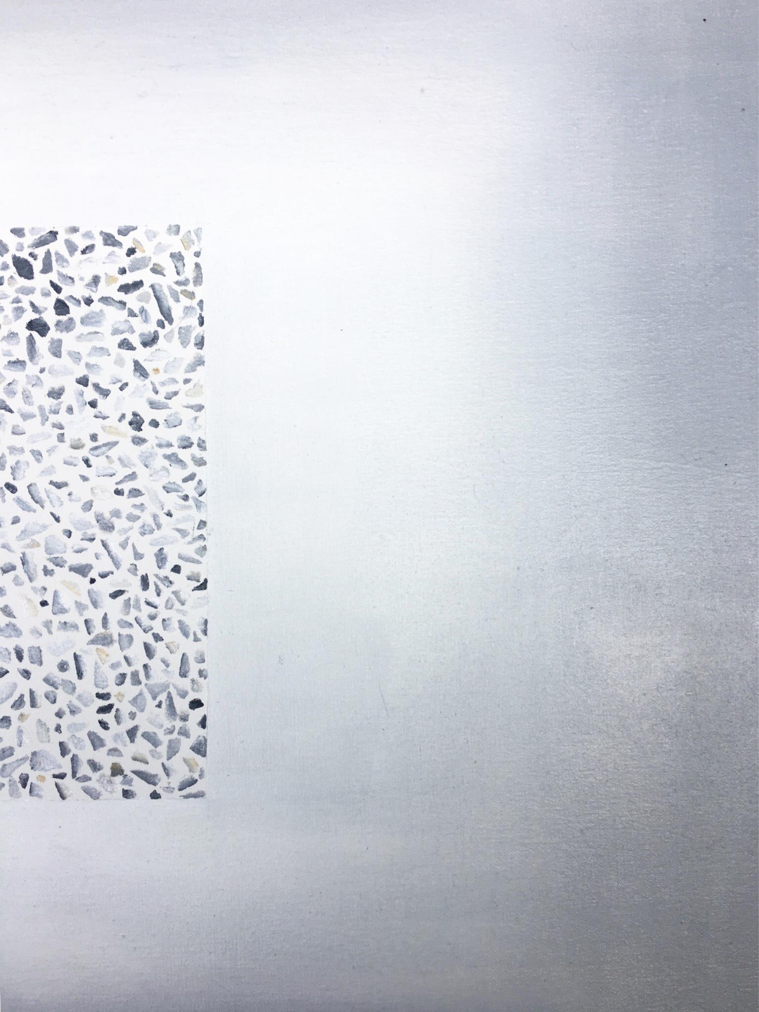 Adina West,  Concrete , 2018, oil on canvas.