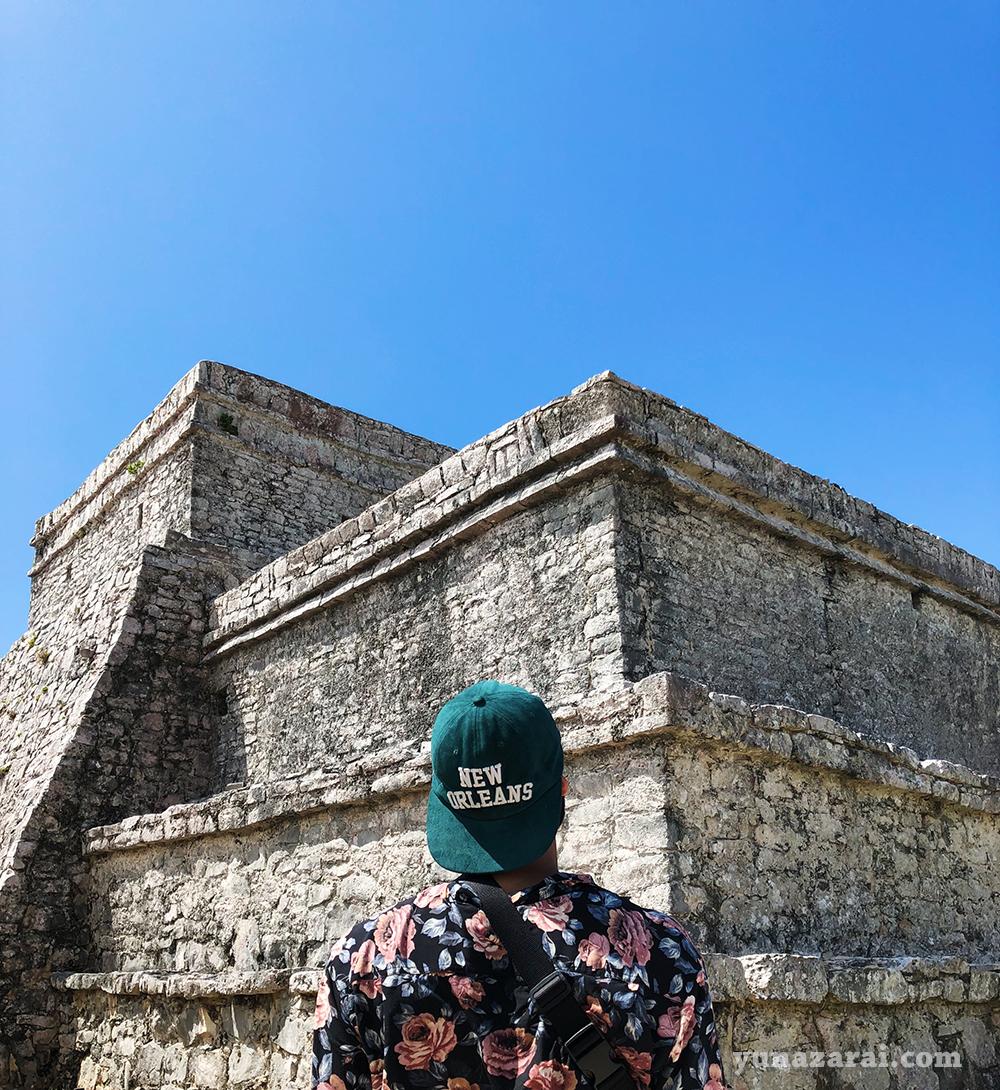 My husband admiring the ruins