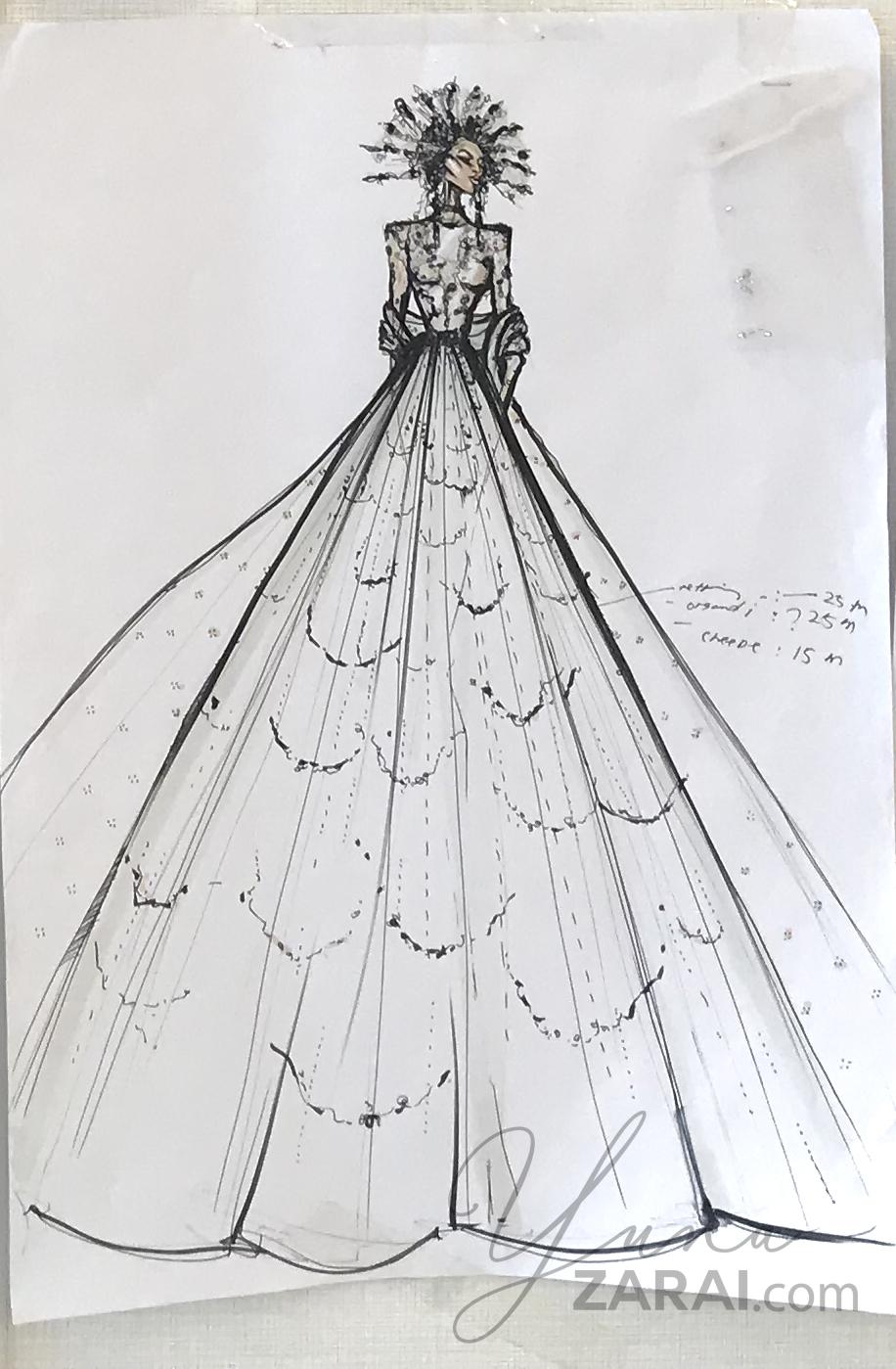 Hatta's sketch, this looks like Queen Amidala, I love it!!