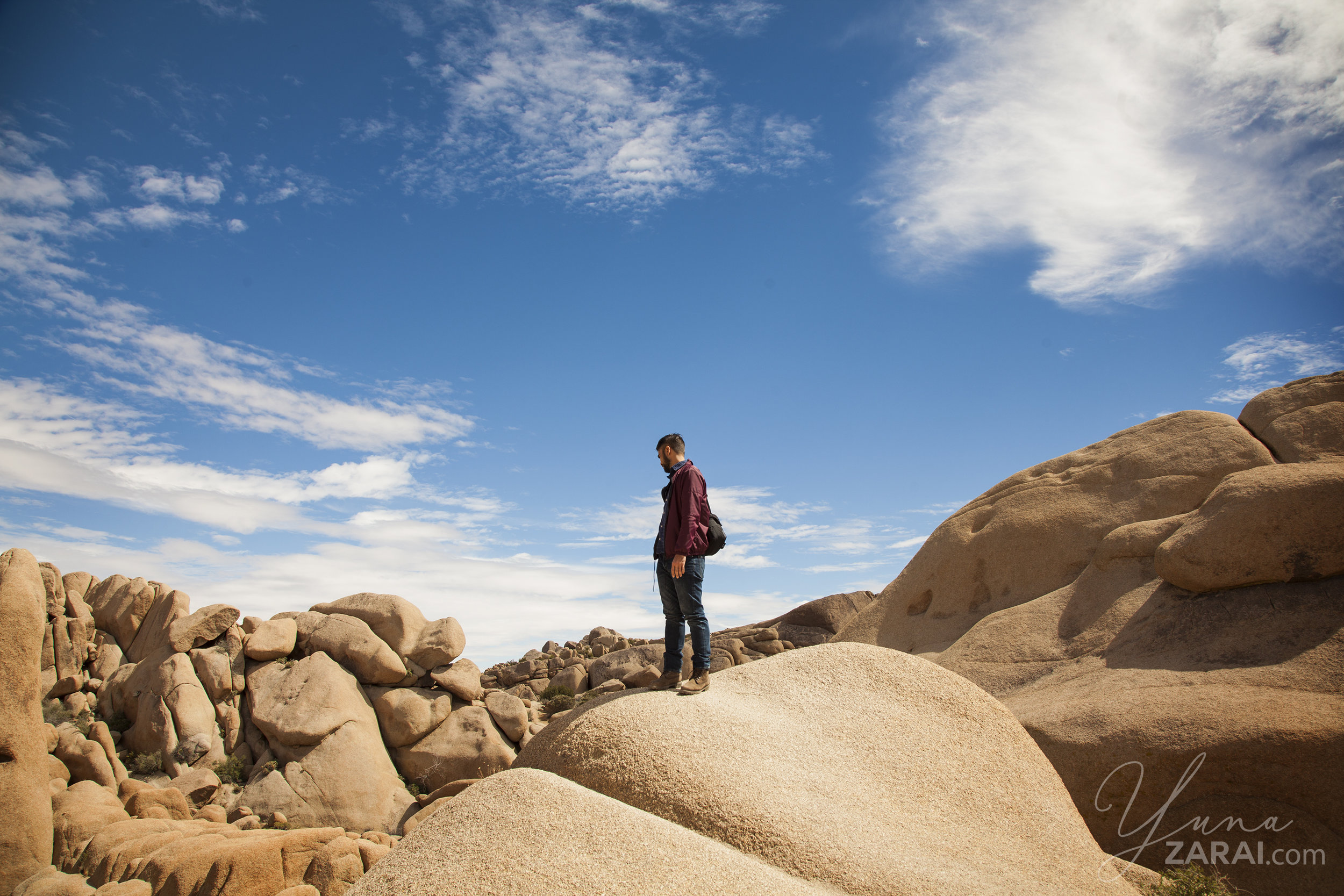 Husband on the rocks.