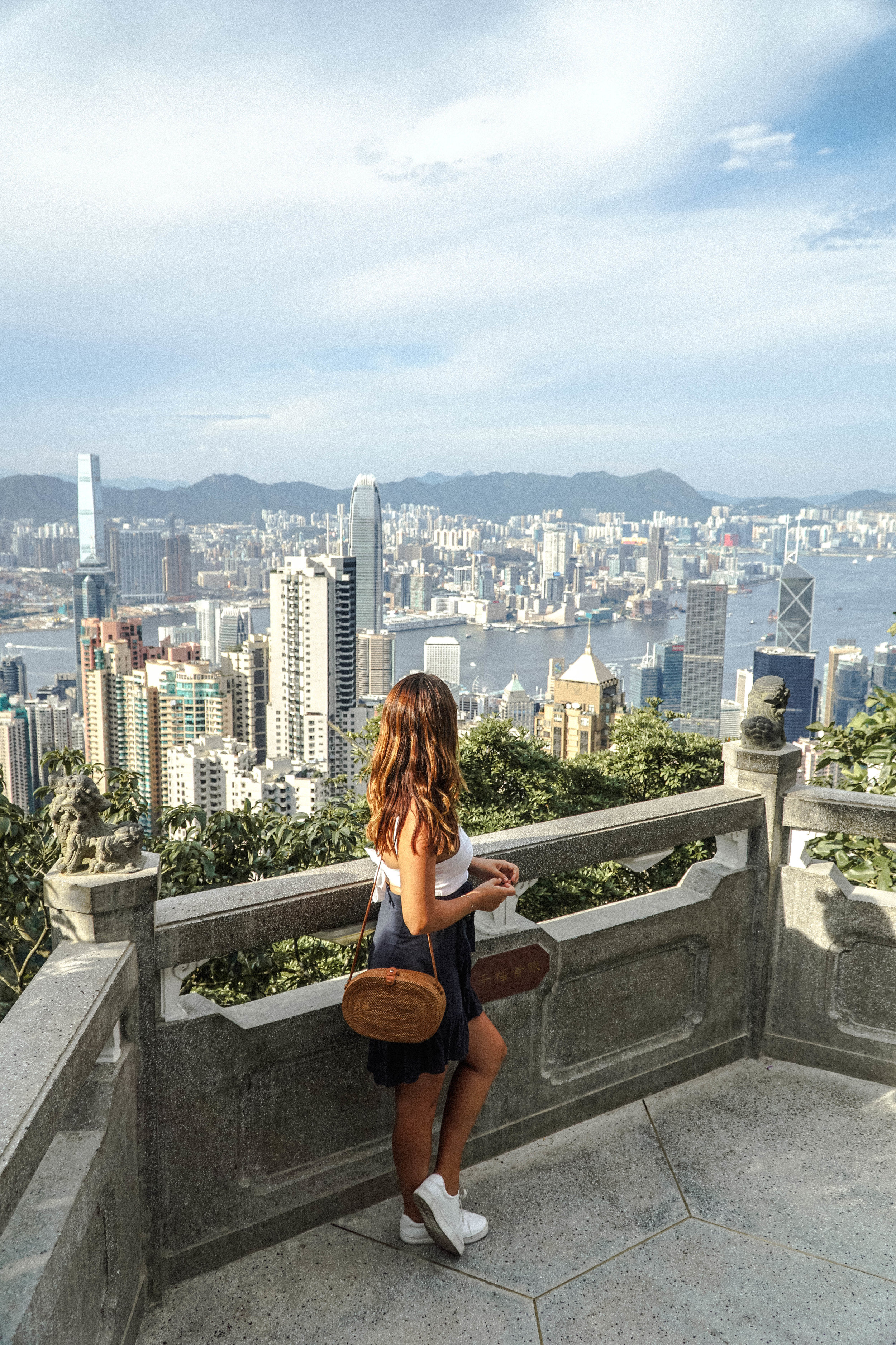 For a panoramic view, head to Victoria's Peak. I would recommend staying for sun down as the city lights take your breath away!