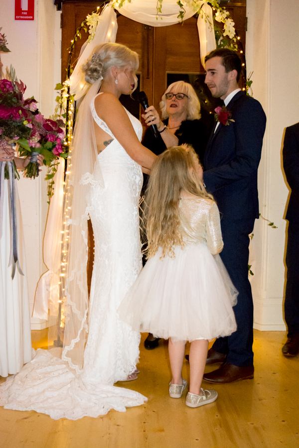 Tahnee and Jack reciting their vows to each other with a little help from Ava and recorded beautifully by    Infinity.Sisters.Photography   .