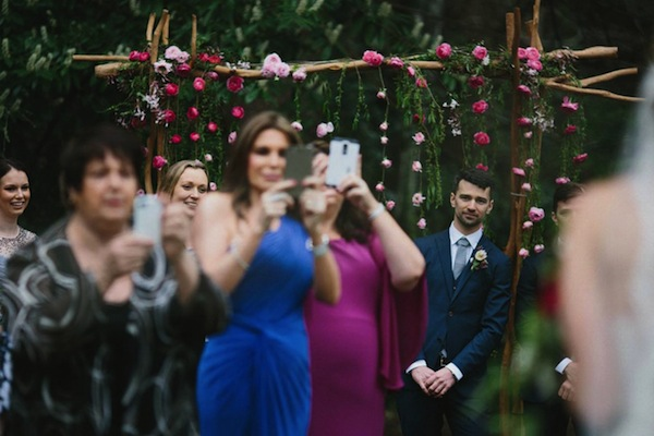 This groom either suffers from vertigo or has a major problem seeing his bride's entry.