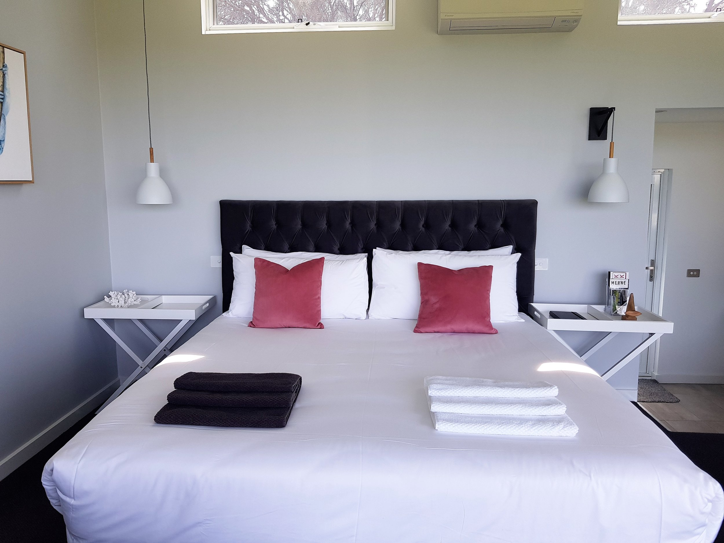 Lie in bed at The Nest whilst overlooking The Southern Ocean