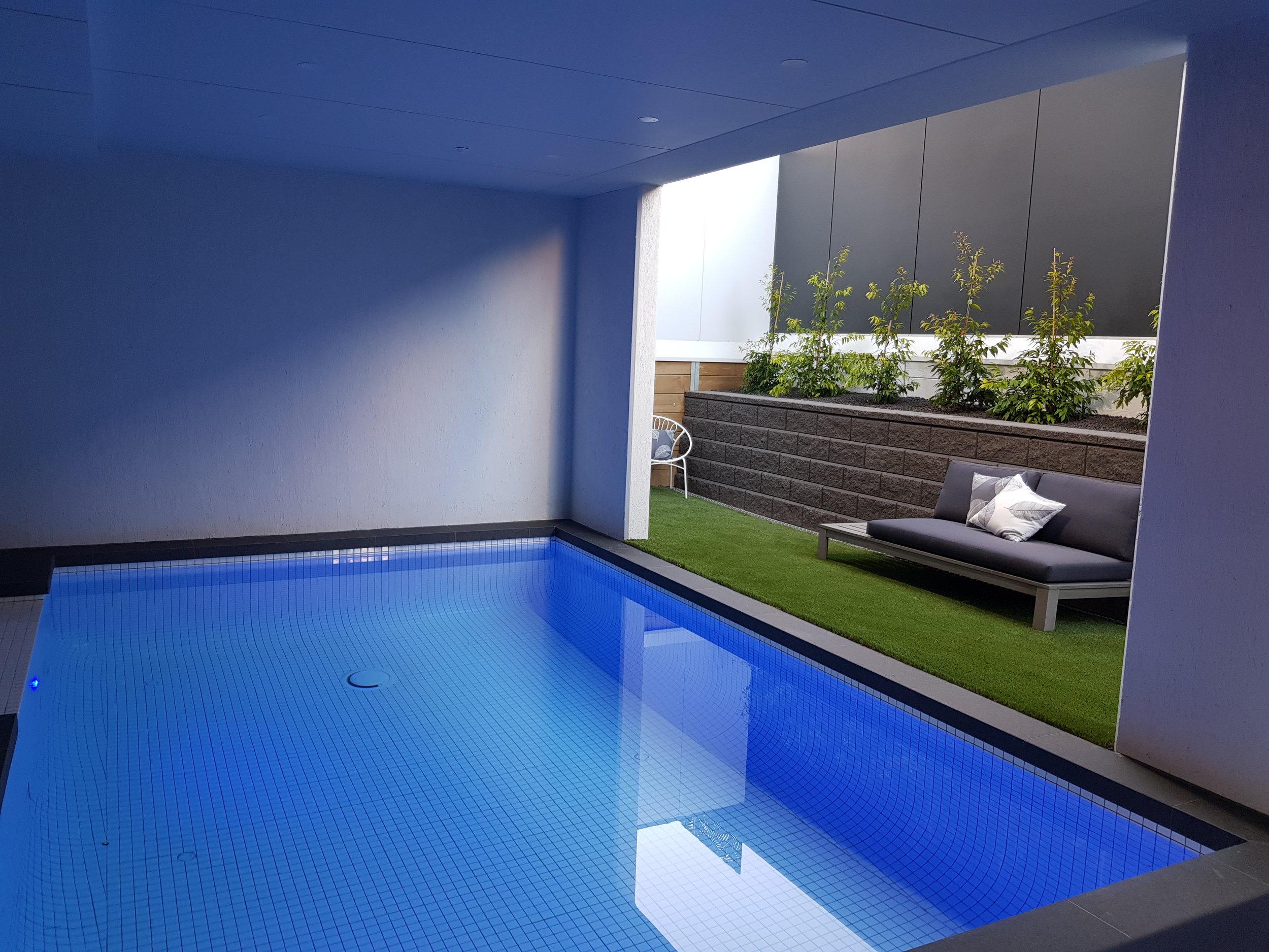 Ocean Grove Chalet heated indoor pool