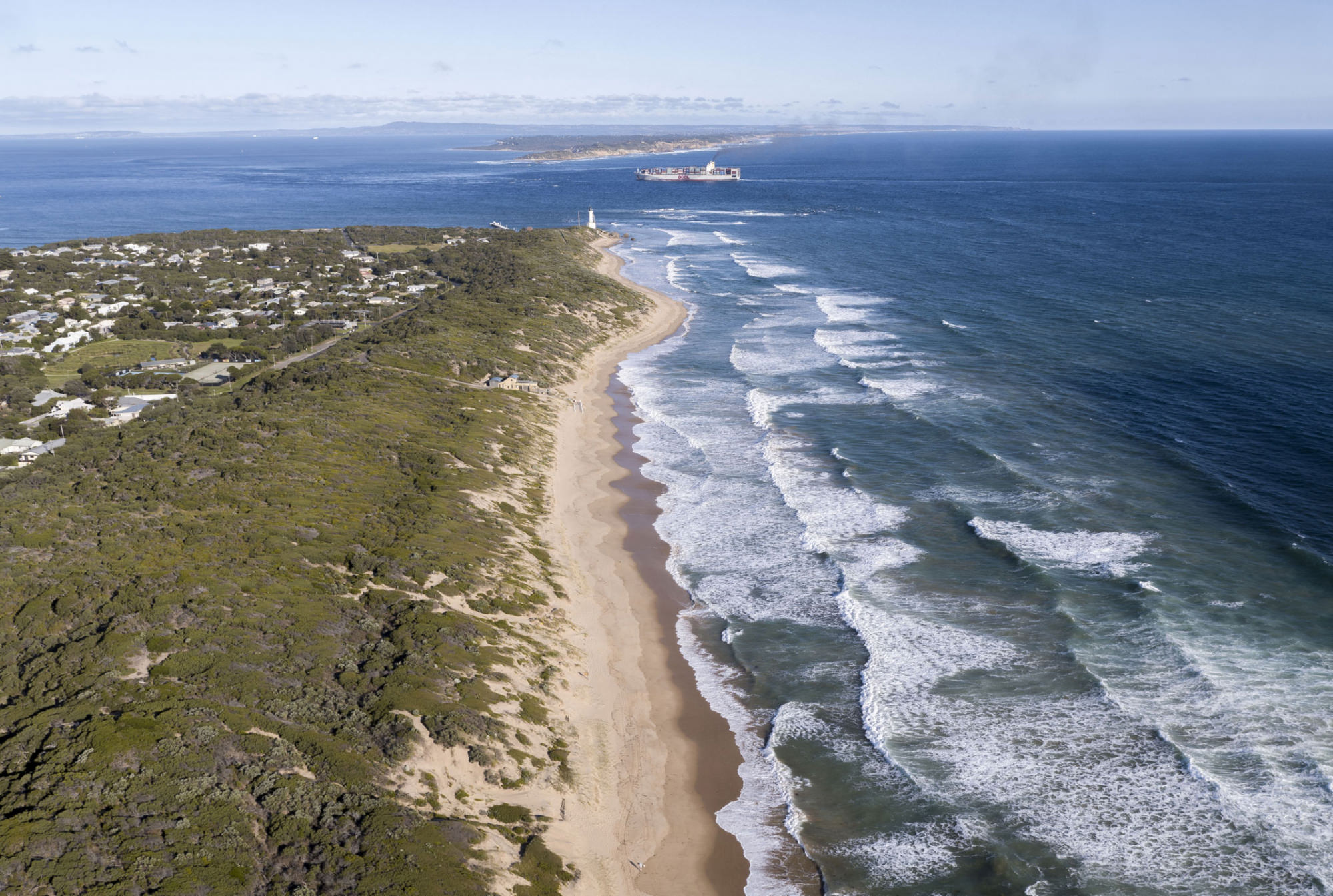Point Lonsdale back beach looking towards The Rip and Point Nepean