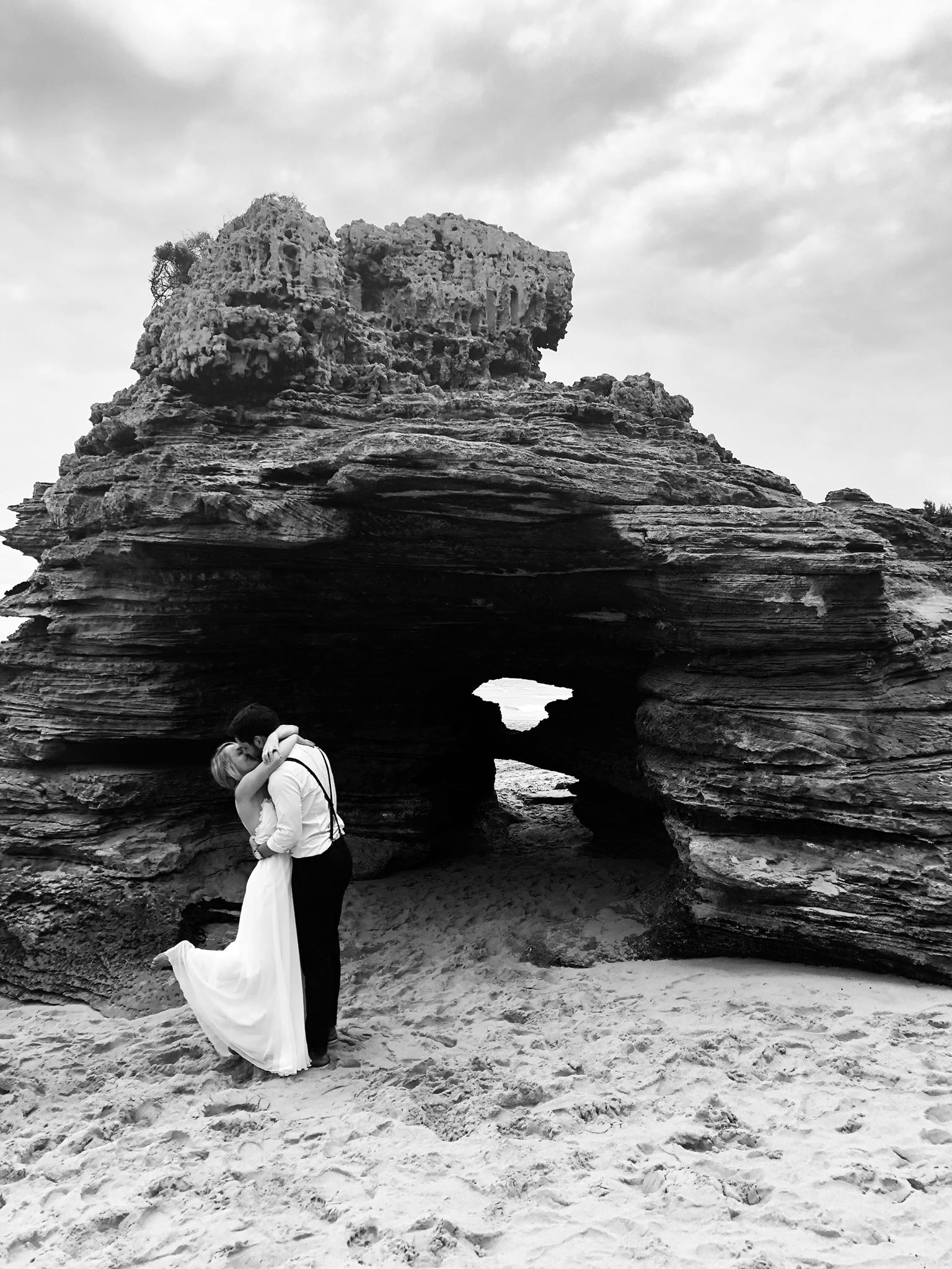 That secluded little spot for my UK couple, Char and Matt, who had dreamt of an Aussie beach-wedding!   Photograph from    Alice Laidlaw Photography