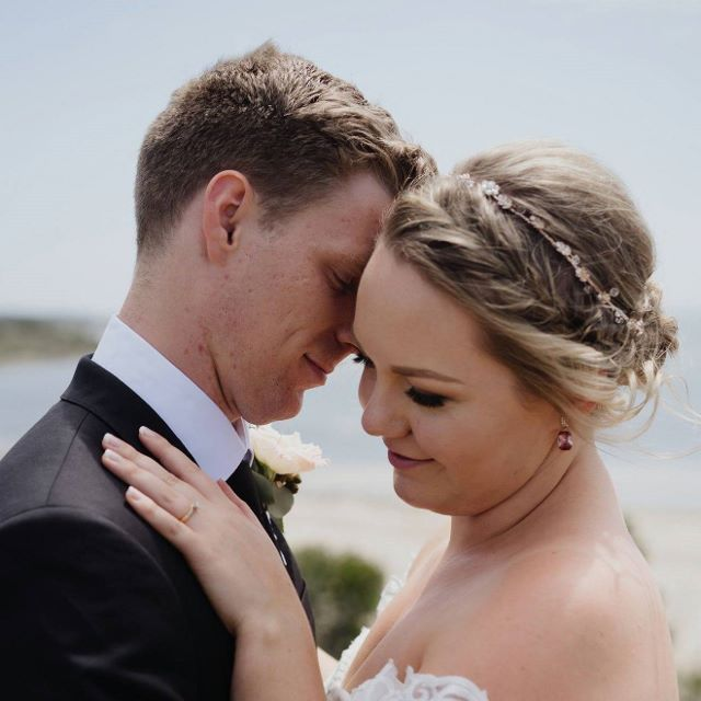 Gemma and Nathan enjoying those precious moments together, privately.   Photography by    All My Wednesdays    Venue    Jack Rabbit Vineyard