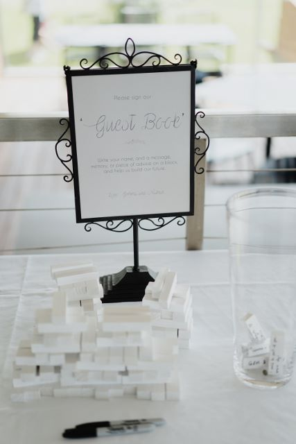 The Jenga Guest Book.