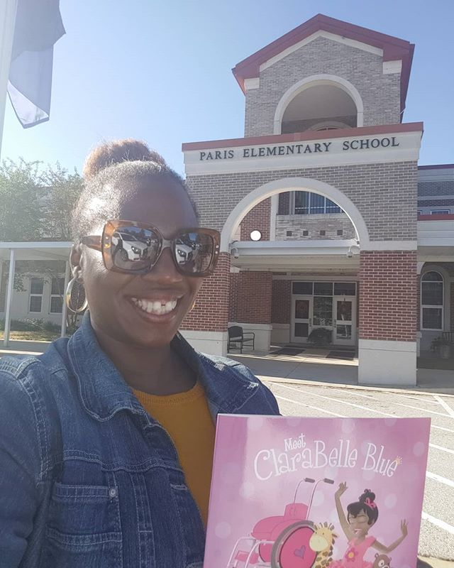 Did you know that Clarabelle Blue travels? Yes ma'am! We just wrapped up a school reading in Greenville, South Carolina! Paris Elementary, thank you so much for having us! Tomorrow, @mjudsonbooks !See you there!