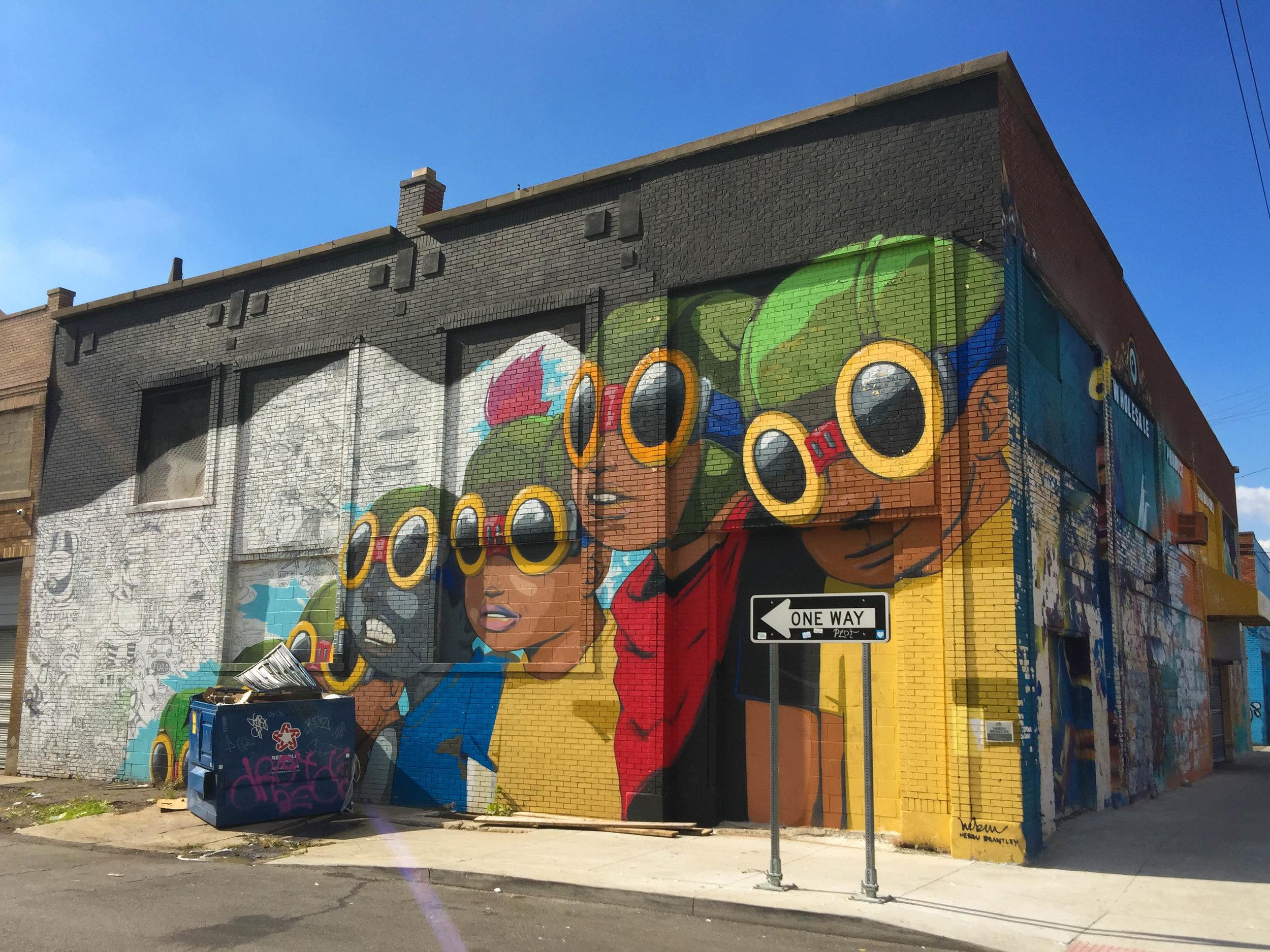Mural by Hebru Brantley - Eastern Market Detroit, Michigan