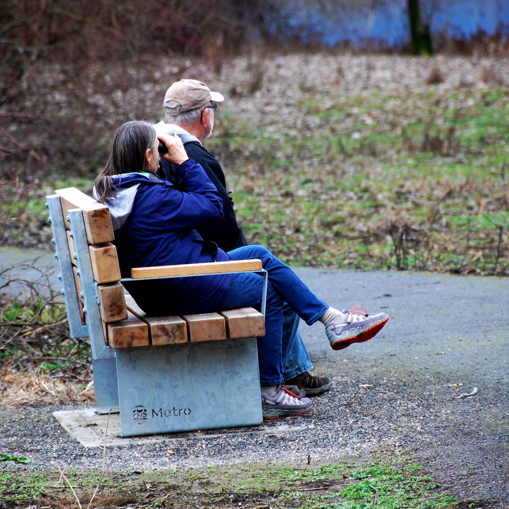 Metro Bench - Birdwatching Couple.jpg