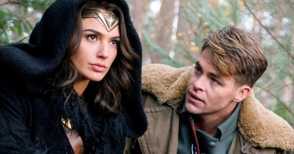 Diana Prince and Steve Trevor - Gal Gadot and Chris Pine - Wonder Woman