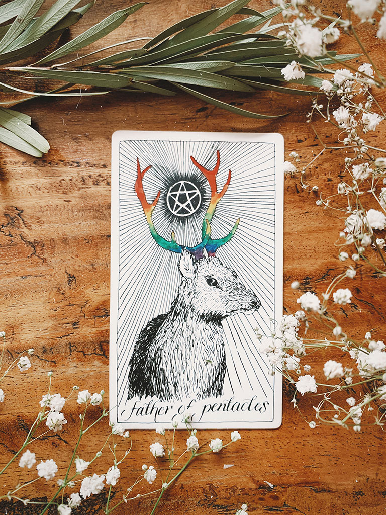 Father of Pentacles Card by The Wild Unknown