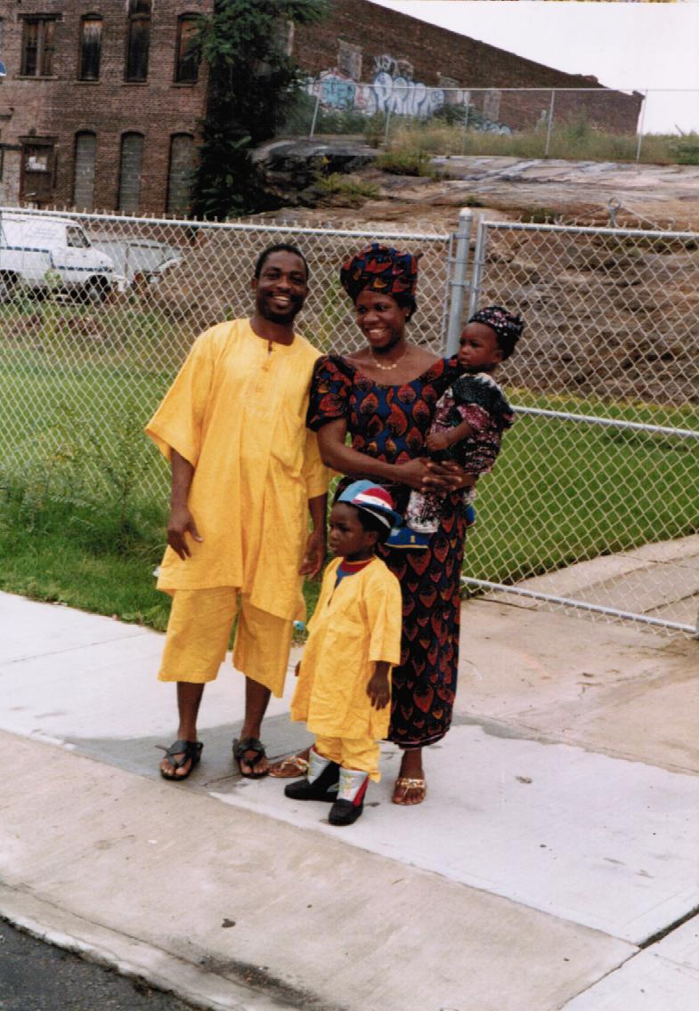 Picture of my parents, sister, and I during our early years in the South Bronx. My dad is proudly rocking the open-toe African dad sandals straight from Nigeria.