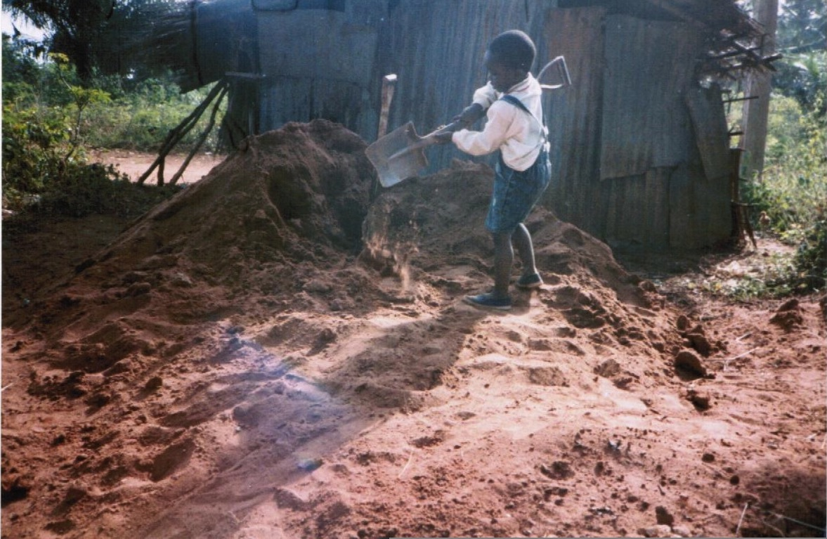 Me circa 1995 digging for vibranium in my paternal village, Isiekenesi, Imo State, Nigeria.