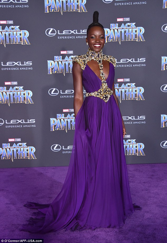 Lupita Nyong'o, my forever inspiration. I put my  Black Panther  premiere outfit alongside hers to give the illusion we're on the same level.
