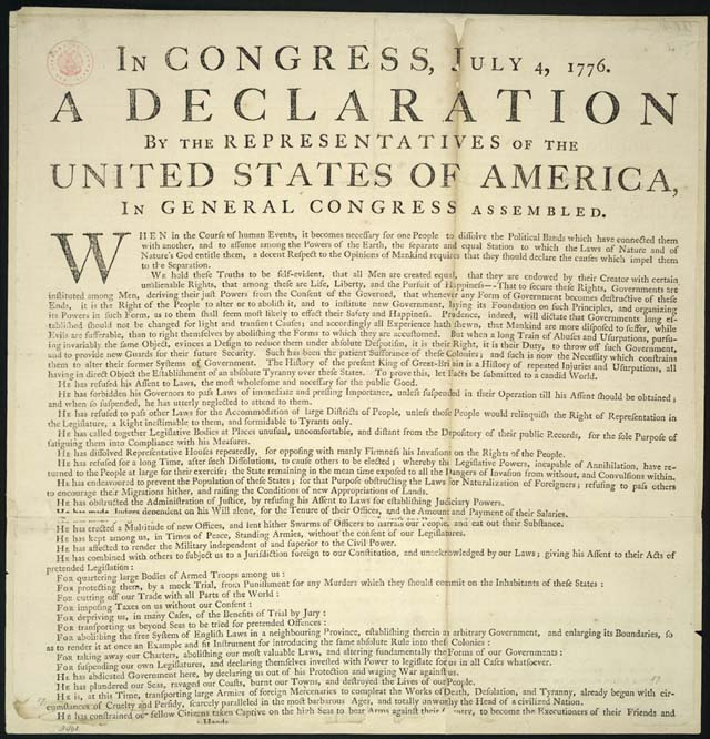 Scam document circa 1776.  Source: Library of Congress