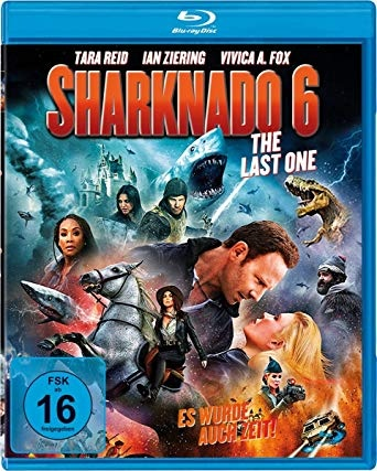 In case anyone wants wasted neuronal connections, Sharknado 6 is the last of the Sharknado franchise. The movie cover featured multiple sharks, a horse, a T-rex with tornados, fire, lightening, and a shooting spaceship. There was also time travel. #EnoughSaid