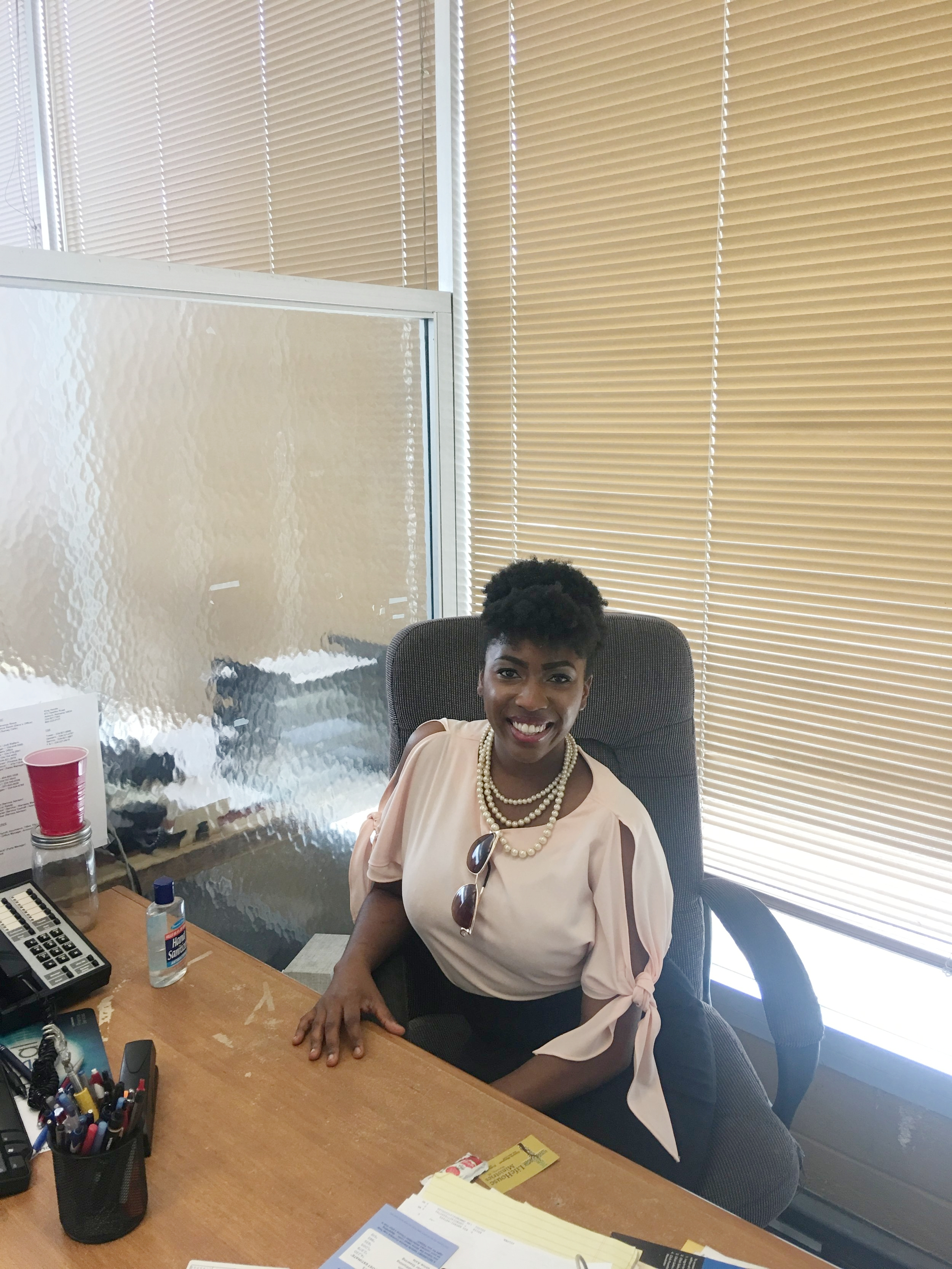 Jessica Alexander visited King Honda in May 2018 to reminisce on her time as a car saleswoman and sit in her old cubicle one last time.