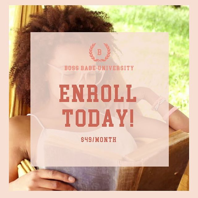 Happy Wednesday to all of my Boss Babes, creatives, and leaders who want to take their personal or professional brand to the next level, you definitely want to enroll in The Boss Babe University.  Boss Babe University is an online platform providing on-demand training in the areas of marketing, media, management, money, and mindset. These five areas are going to transform the way you see business and the way your brand grows in 2019.  It is $49/month and comes with -On-Demand Course -Private Facebook group -Discounts on OperationEvolve products and services  Sign up today at operationevolve.com/products  #bossbabeuniversity #thebossbabeuniversity #bossbabe #branding #marketing #media #mindset #management #money #goals #goaldigger #bossup #levelup #digitaltraining #girlboss #ladyboss #levels #branding #influencer #operationevolve #educate #empower #evolve