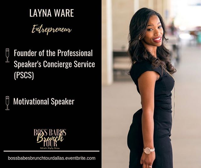 Meet Layna @layna_speaker_concierge She is the founder of the Professional Speaker Concierge Services. With over ten years of experience in diverse business environments, she is passionate about witnessing the growth and development of influencers who can change the world.  She will be speaking on the panel for the Boss Babes Brunch Tour stop in Dallas next Saturday! Have you grabbed your tickets?! They are available bossbabesbrunchtourdallas.eventbrite.com See you there!!! #Bossbabesbrunchtour2019 #bossbabesbrunchtour #bossbabesbrunch #bossbabes #networkingbrunch #womensbrunch #womeninbusiness #brandyourbusiness #growyourbrand #levelup #bossupbabe  #womeninbusinessrock #femaleentrepreneurs #travelbabe #millennialnomad #millennialboss #millennialentrepreneur #entreprenuers  #dallasfoodie #dallasbrunch #dallasvendors #dallasphotographer #dallasevents #dallasnightlife #dallassmallbusiness