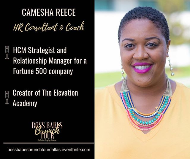 Dallas, meet Camesha Reece @cameshareece  She is an HCM Strategist and Relationship manager and creator of The Elevation Academy. She will be dropping some gems 💎 during her workshop next Saturday at Boss Babes Brunch Tour in Dallas.  Have you purchased your ticket? We have limited space available. Visit bossbabesbrunchtourdallas.eventbrite.com to secure your spot today.  #Bossbabesbrunchtour2019 #bossbabesbrunchtour #bossbabesbrunch #bossbabes #networkingbrunch #womeninbusiness #brandyourbusiness #growyourbrand #levelup #bossupbabe  #womeninbusinessrock #millennialnomad #travelnoir #millennialboss #millennialentrepreneur #dallastexas #dallasmodels #dallasmua #dallasphotographer #dallas_community #dallasfood #dallasblogger #dallas