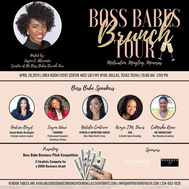 I have been taking some time away from social media to focus this week. But I am so excited to host the 5th stop of the 2019 Boss Babes Brunch Tour in Dallas this weekend. We have an amazing panel of women and we are looking to host an amazing event. I looking forward to meeting a group of Boss Babes who are making moves in Dallas.  Even though this is the 5th stop of the tour, this is the 31st Boss Babes Brunch that I have hosted. This journey has been filled with so much joy, growth, excitement, nerves, pretty much every human emotion. The process to purpose is not always filled with sunshine and rainbows, but God has been doing a great work. And on such a special weekend, I am more grateful than ever to have the freedom to live and walk freely in my Purpose. A great price was paid for this and I don't take it for granted.  Bossbabesbrunchtourdallas.eventbrite.com  #Bossbabesbrunchtour2019 #bossbabesbrunchtour #bossbabesbrunch #bossbabes #networkingbrunch #lasvegasevents #lasvegaslocals #washingtondcevents #womensbrunch #womeninbusiness #brandyourbusiness #growyourbrand #levelup #bossupbabe #testimoneytuesday #womeninbusinessrock #femaleentrepreneurs #travelbabe #millennialnomad #travelnoir #millennialboss #millennialentrepreneur #entreprenuers