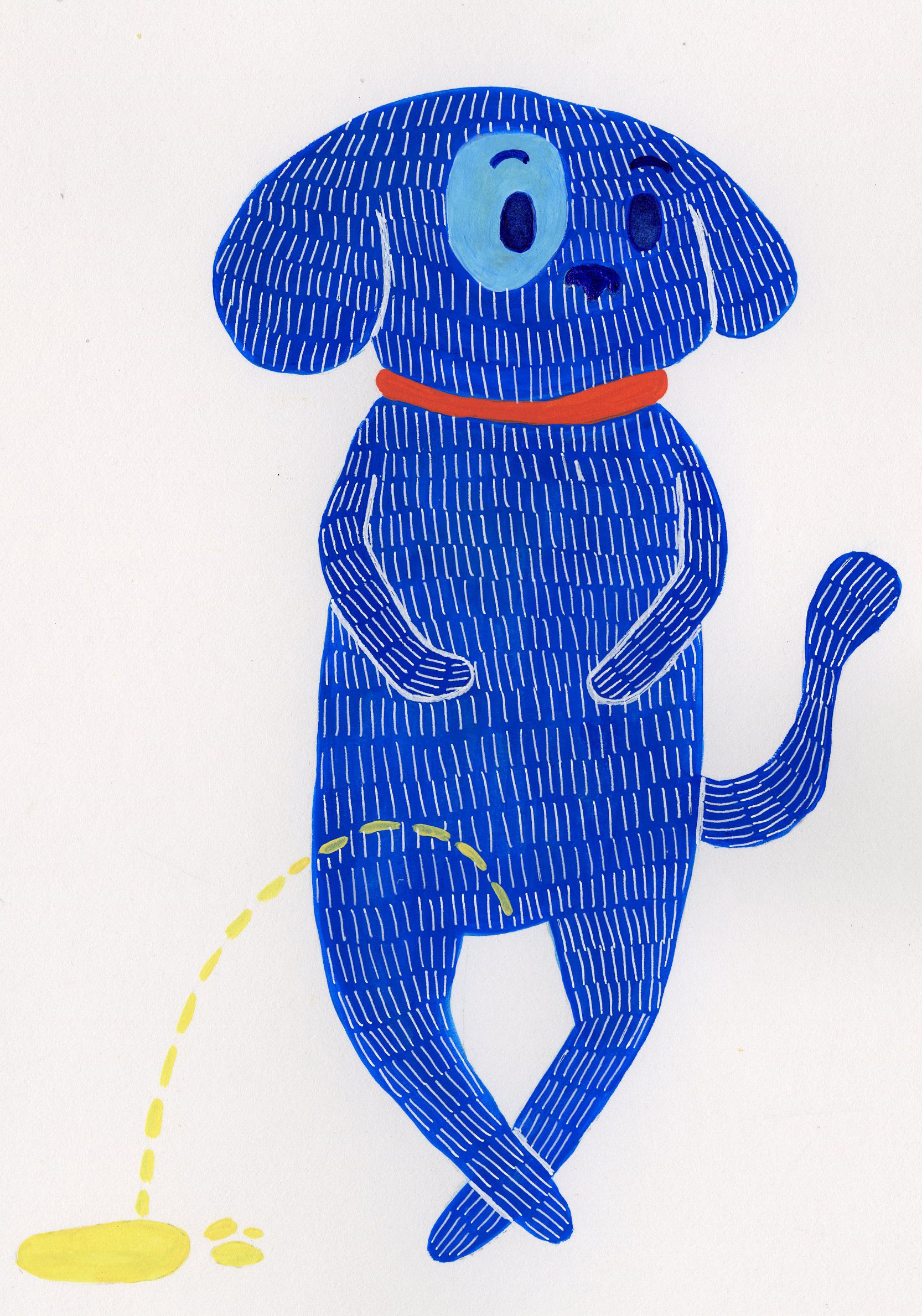 Dog Cards- Peeing Blue Dog 5x7.jpg