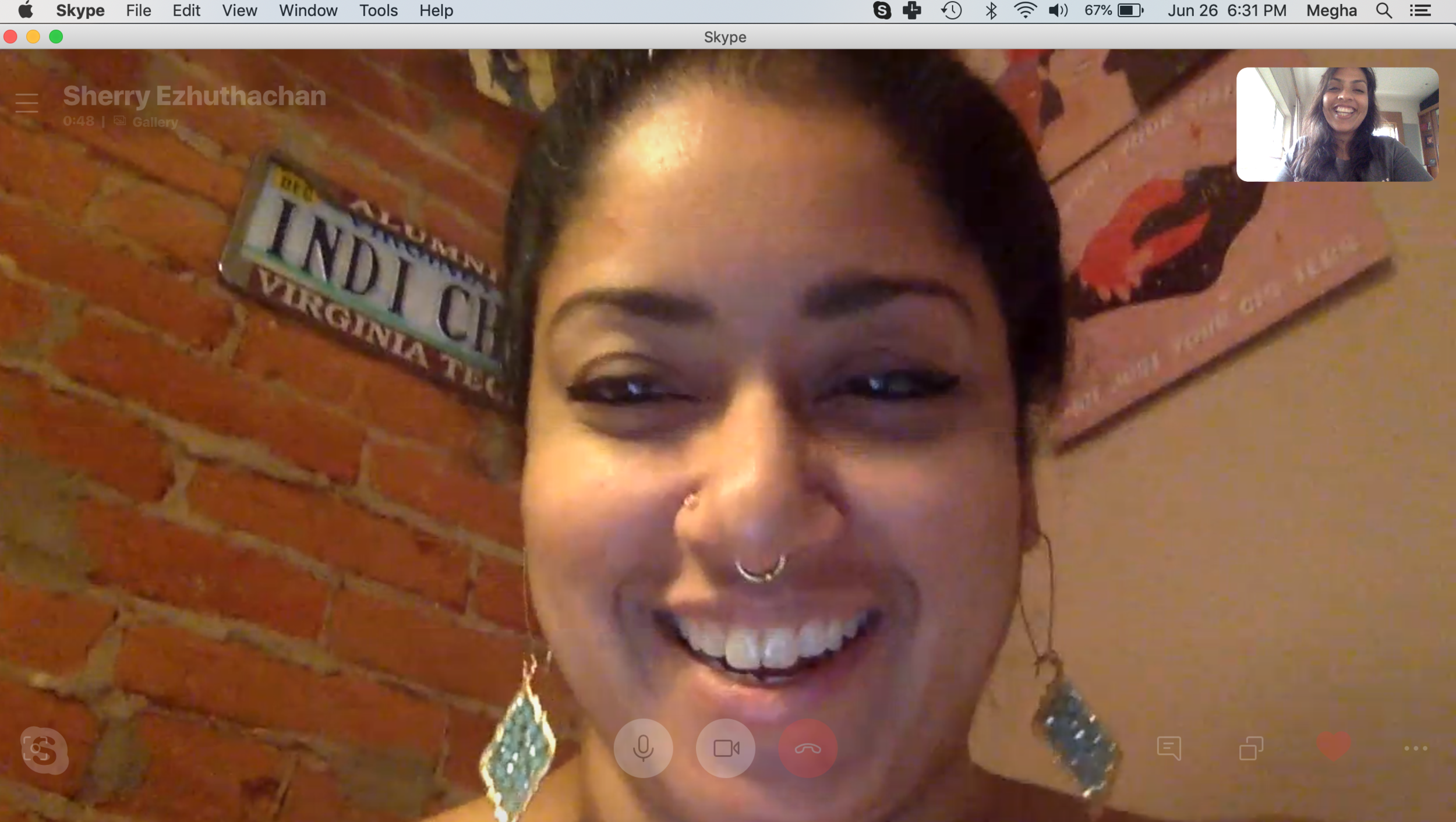 During one of my calls with Sherry!