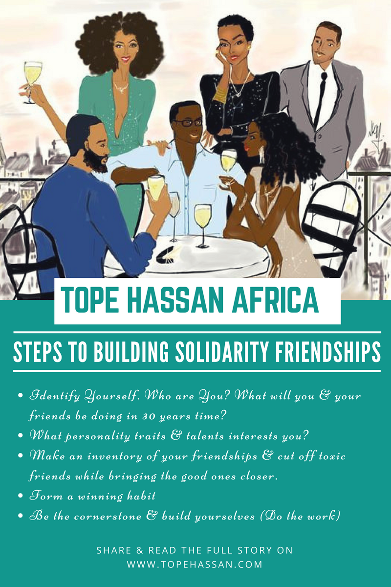 steps to buidling solidarity friendships + africa + illustration + tope hassan africa