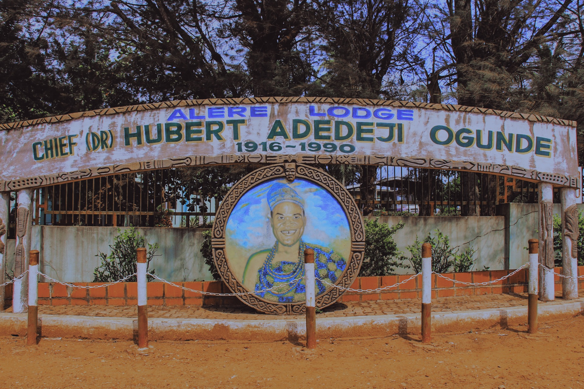 the entrance to Herbet Ogunde's living museum home