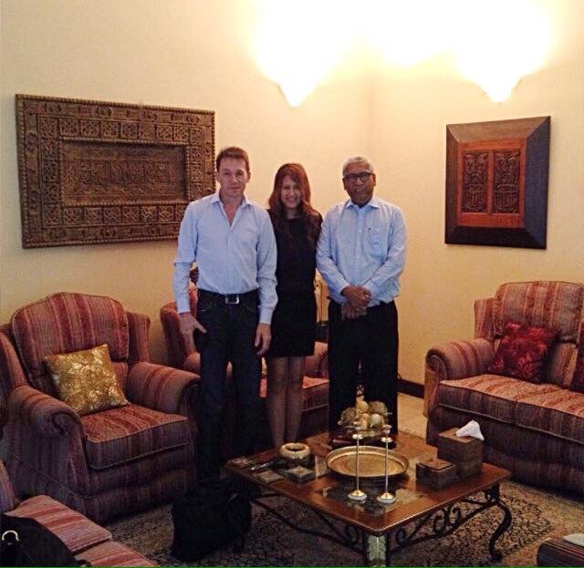Harald, Susan and Mr. Mukthar Marikkar (Honorary Consul of Tunisia in Sri Lanka and Chairman of Frostaire)