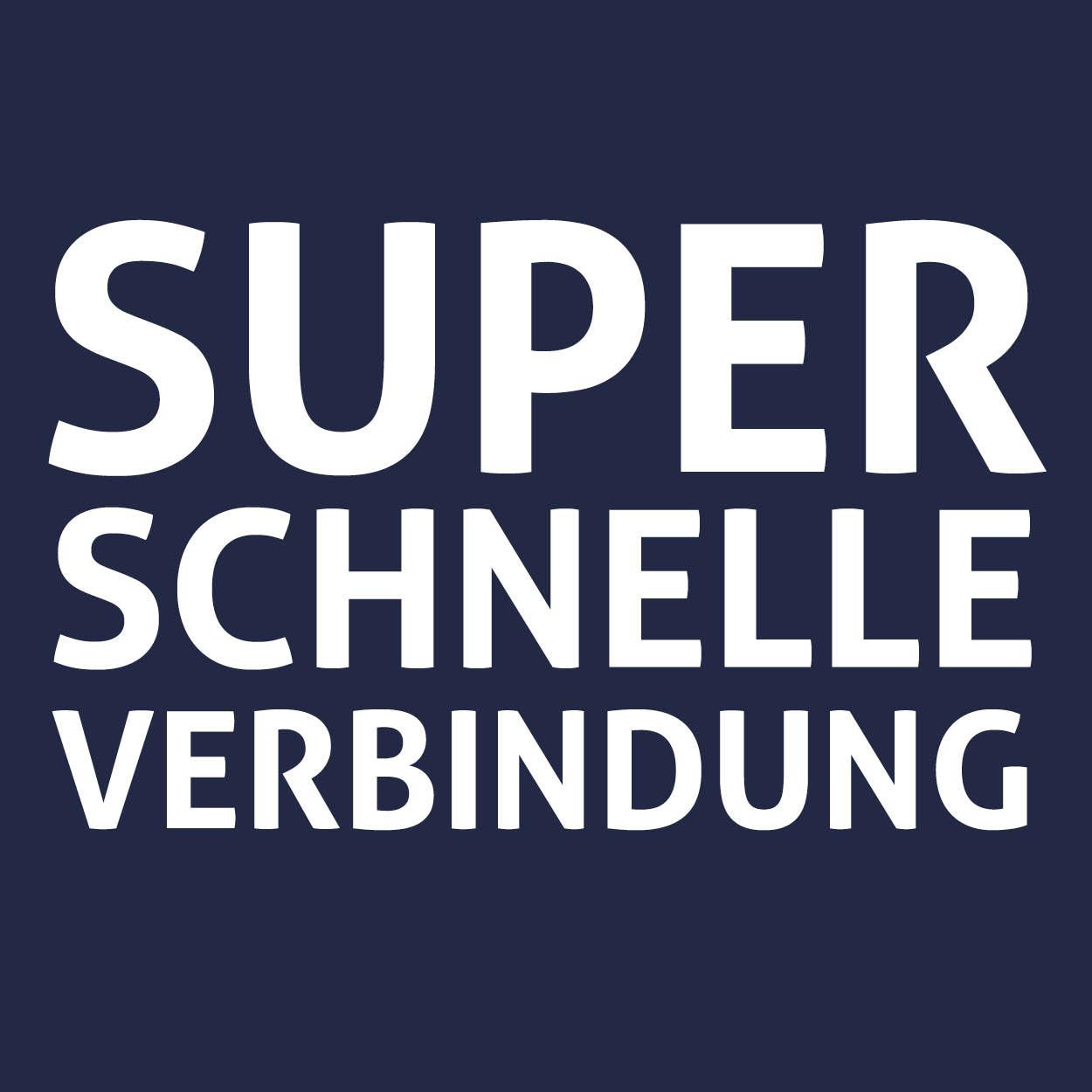Superschnelle verbindung