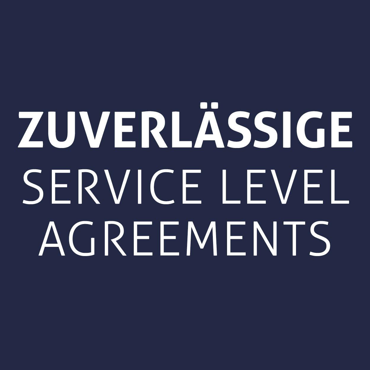 Zuverlässige service level agreements
