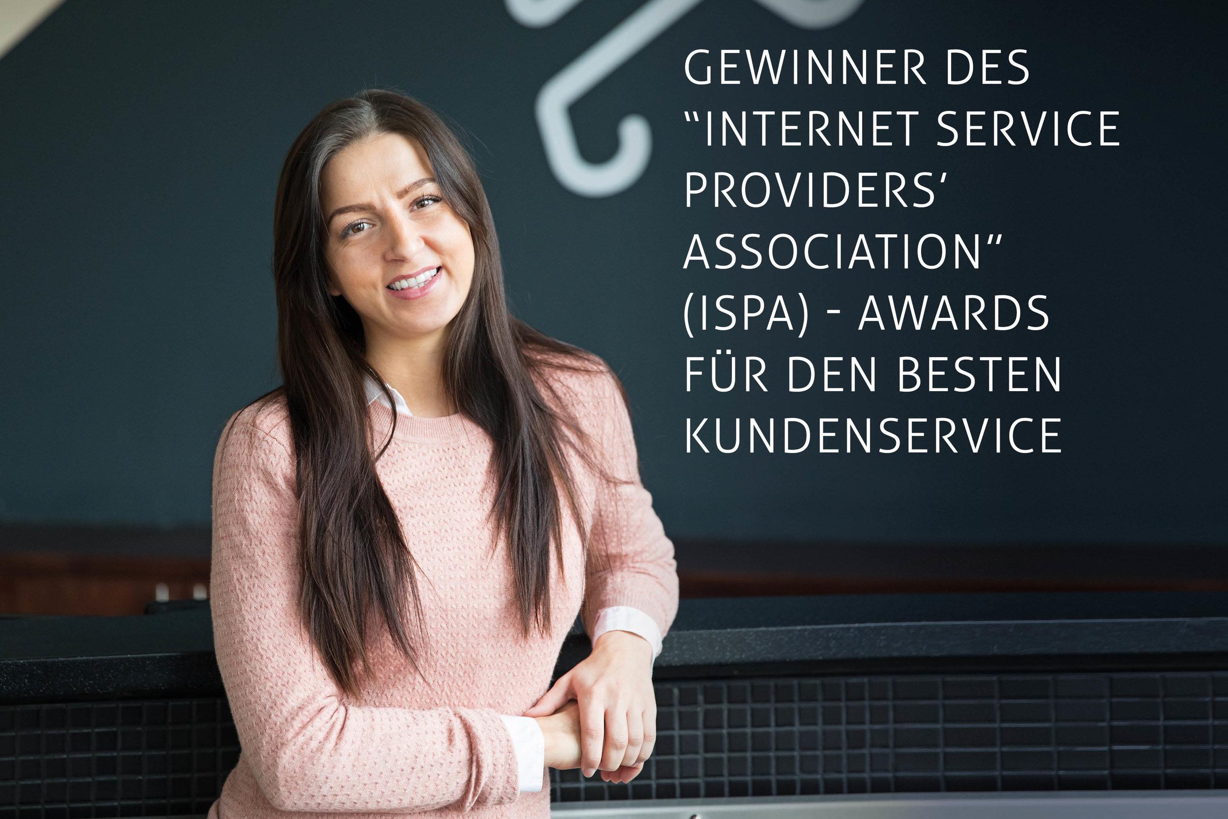 """Gewinner des """"Internet Service Providers' Association"""" (ISPA) - Awards für den besten Kundenservice"""