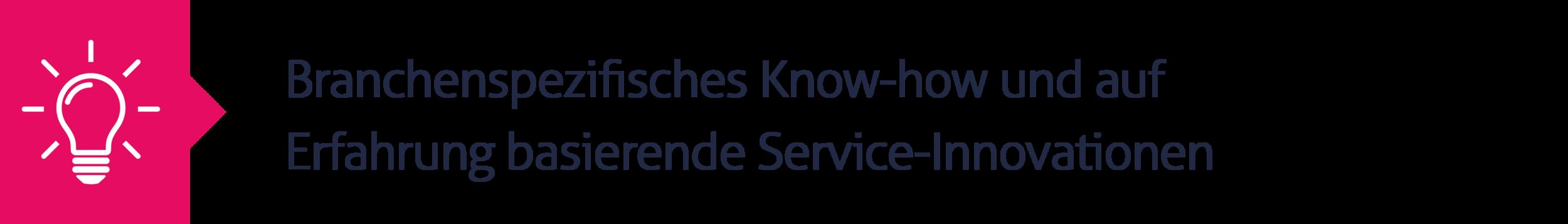 11.Branchenspezifisches Know-how und auf Erfahrung basierende Service-Innovationen