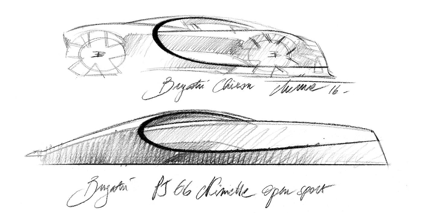 Bugatti Niniette and Bugatti chiron sketch.jpg