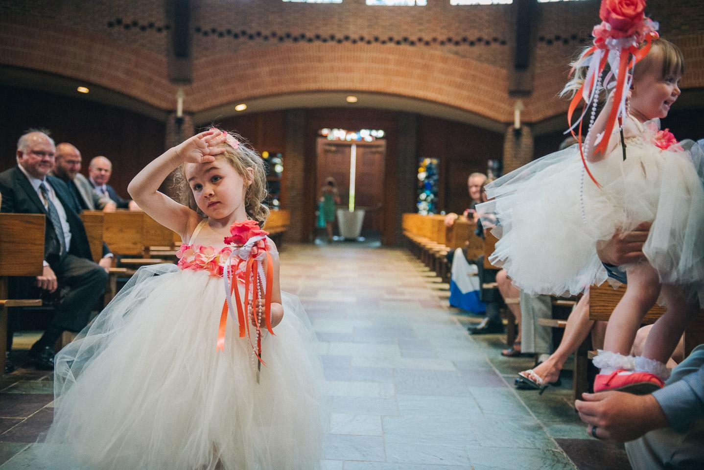 NH Wedding Photographer: processional flower girl