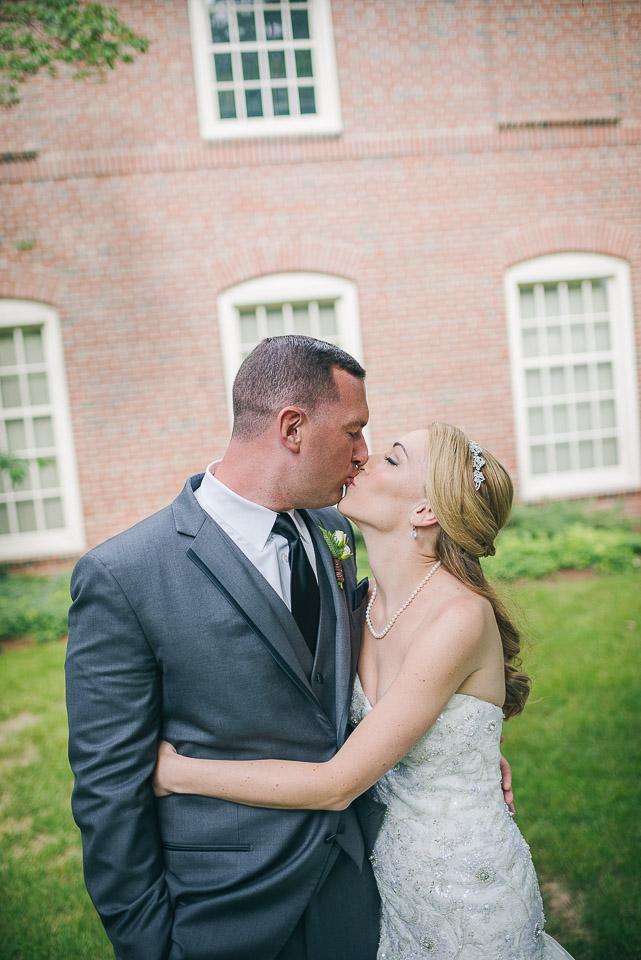NH Wedding Photographer: couple kissing portrait