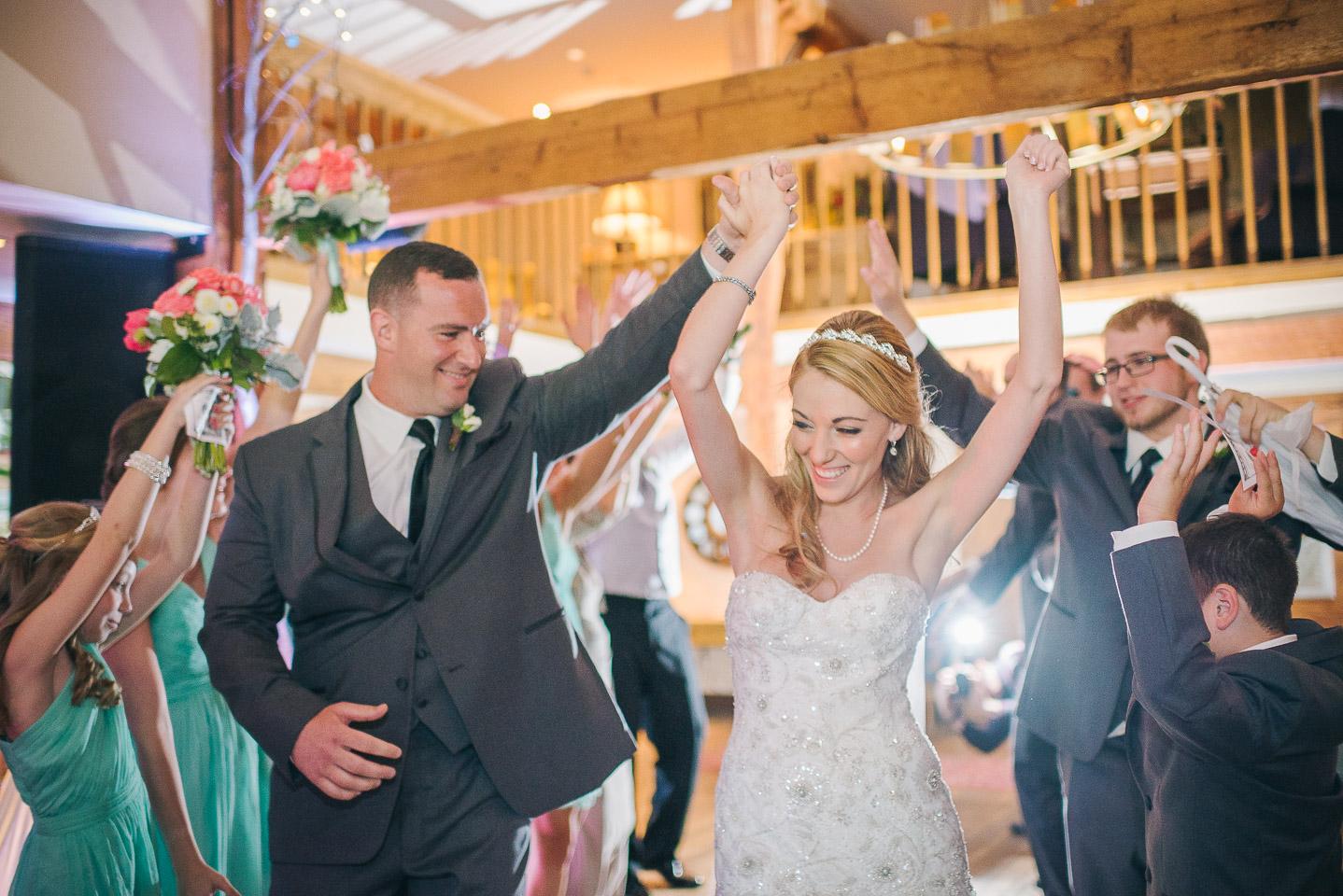 NH Wedding Photographer: newlyweds introductions