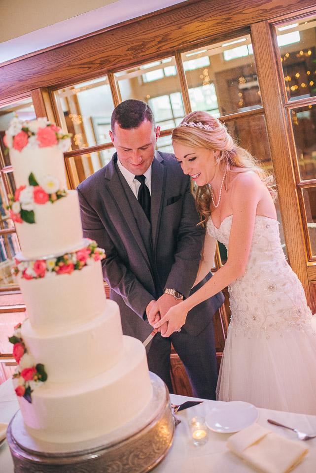 NH Wedding Photographer: cake cutting at BVI