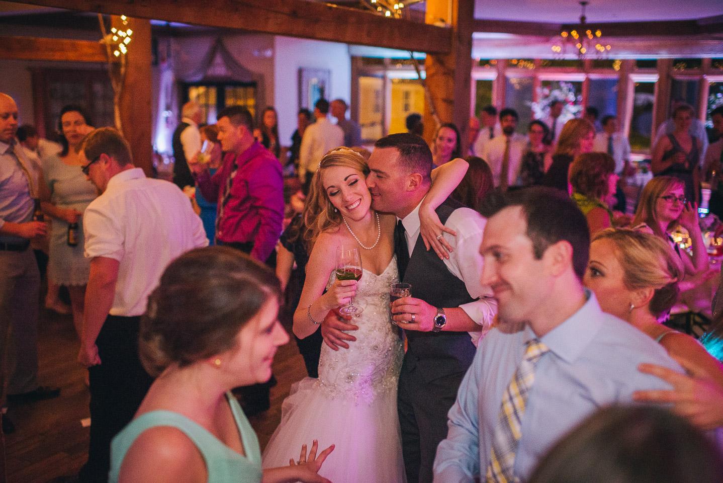 NH Wedding Photographer: guests dancing